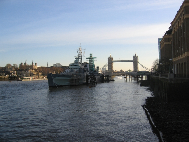HMS Belfast and the Tower Bridge